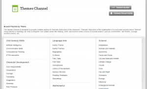 Themes Channel Page screenshot